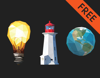 Free Low Poly Icons Set