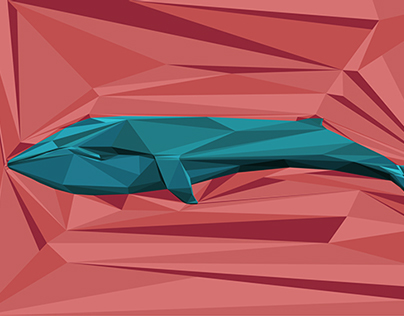 Low-Polygon Whale