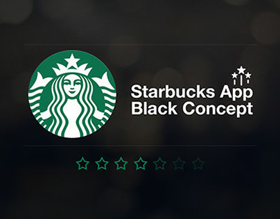 Starbucks application (Business Concept) Black Style