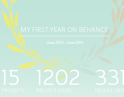 My first year on Behance