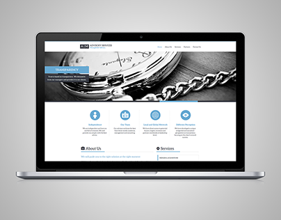 Responsive business website with full width slider.