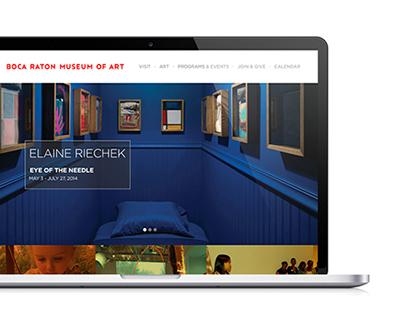 Boca Raton Museum - Website Design