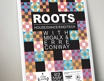 Roots party poster design