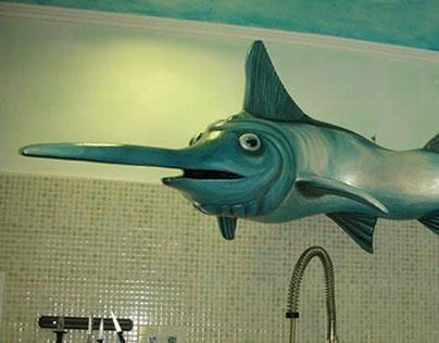 progetto per la realizzazione di un pesce spada 3d..