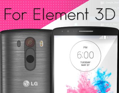 LG G3 3D model for Video Copilot's Element 3D