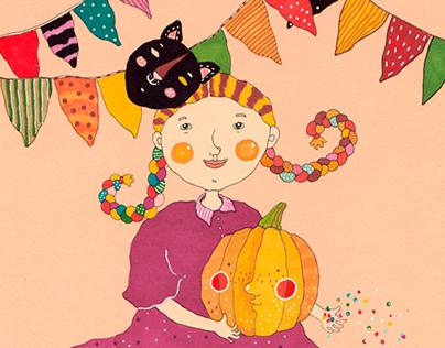 Children's illustration: boys and girls