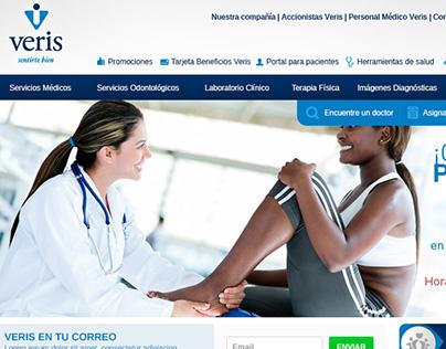Veris Ecuador website redesign proposal