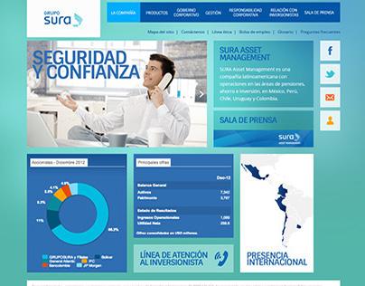 Grupo SURA Asset Management Website redesign proposals