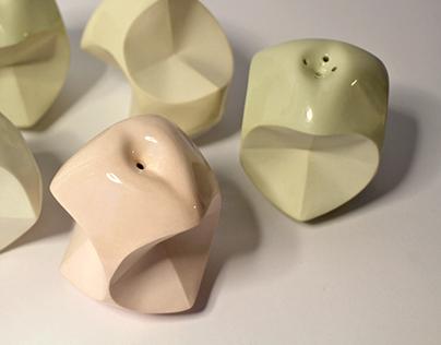 Apple core salt shakers