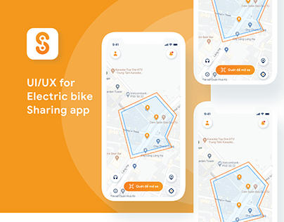 UIUX for Electric bike sharing app