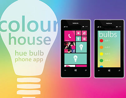Hue Bulb App Design for Windows Phone