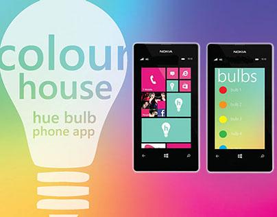Hue Bulb App Design for Windows Phone