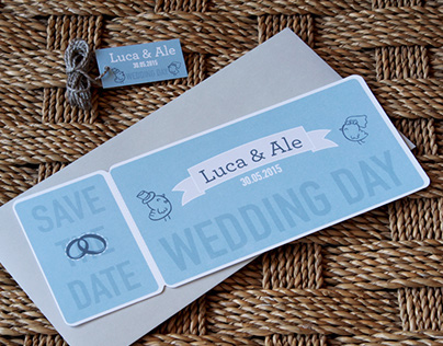 Save the date wedding Luca & Ale