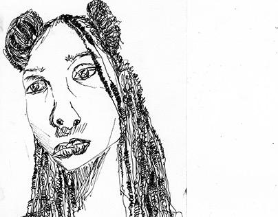 Self Portrait in Ink
