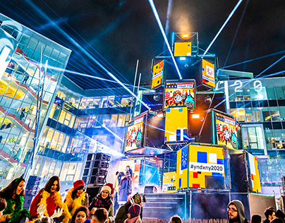Yandex corporate New Year 2019 party / Яндекс DJ сцена