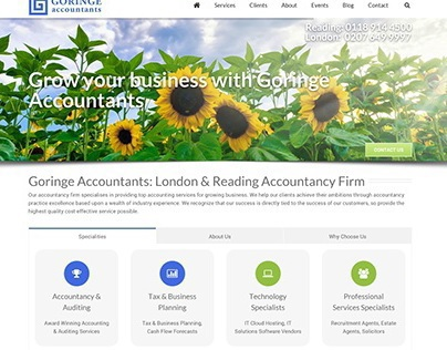 Goringe Accountants Web Design