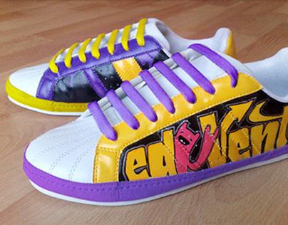 Ed Venture: Handpainted Sneakers