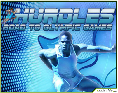 Adobe Flash Game: Hurdles, Road to Olympic Games