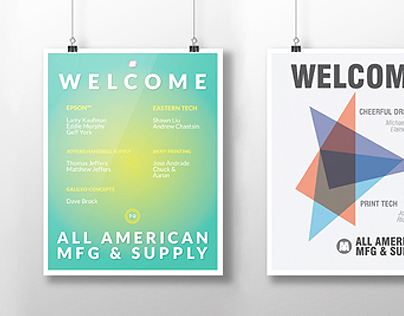 Welcome Posters: All American MFG & Supply Co.