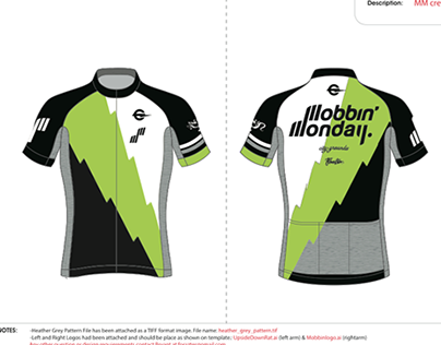 Mobbin' Monday Cycling Kit Design