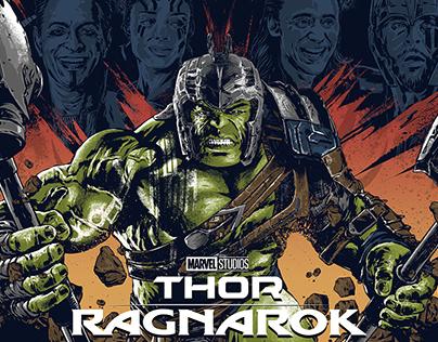 Thor: Ragnarok Screen-Printed Poster