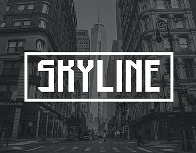 SKYLINE-  Free font