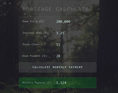 Super Simple Mortgage Calculator
