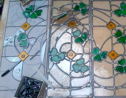 Leaded stained glass (Canopy)