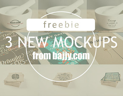 3 new freebie Mockups