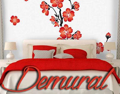 Photo wallpapers in bedroom