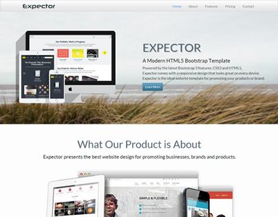 Expector - Onepage Bootstrap Parallax Template