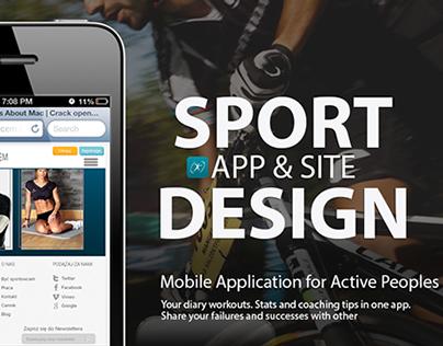 Sport APP & Site Design