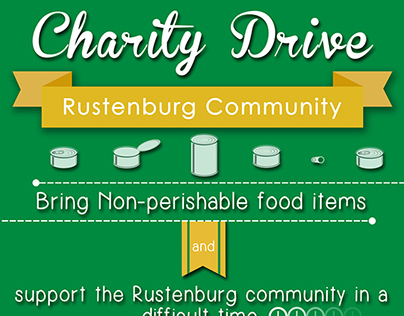 Charity drive posters for Healthshare