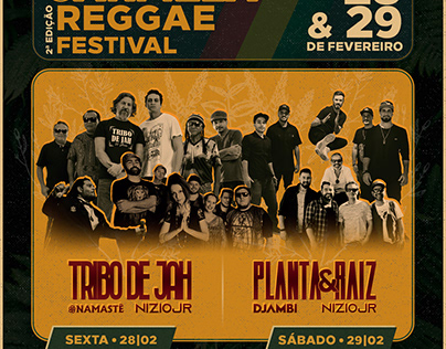 Identidade Visual • Evento de Reggae