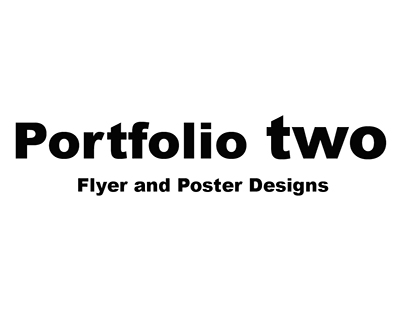 Portfolio Two - Cinema Flyer and Poster Designs