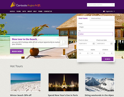 Cambodia Angkor Air website redesign