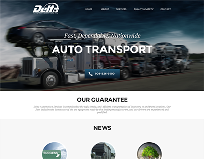 Autotransport Webdesign