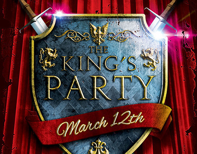 The King's Party Flyer Template