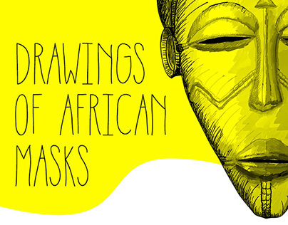Drawings of African Masks