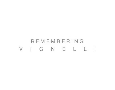 Remembering Vignelli