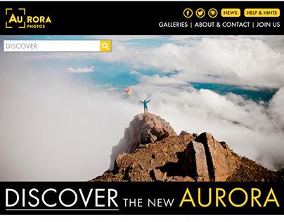 Aurora Photos Website Launch Email