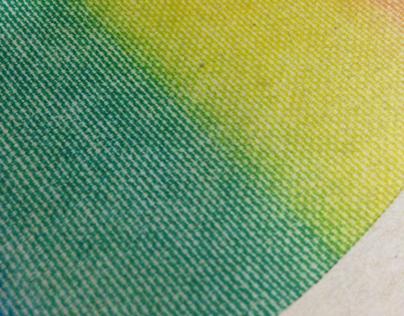 Rainbow split fountain effect