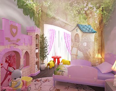 Interior design children's Crimea