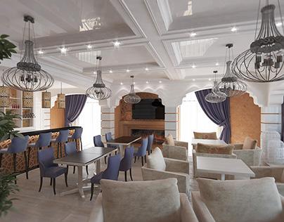 interior design cafe Gursuf Crimea