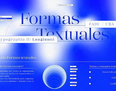 Formas textuales - Typographia II: Longinotti 2019
