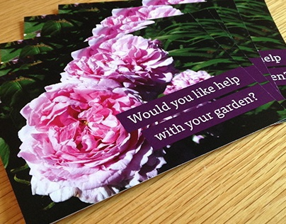 Garden Maintenance Postcard