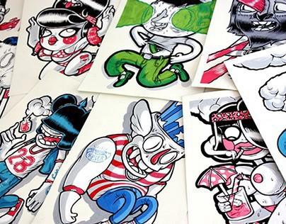 Paper paintings 2013