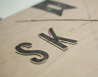 I Skate Here - Pyrography
