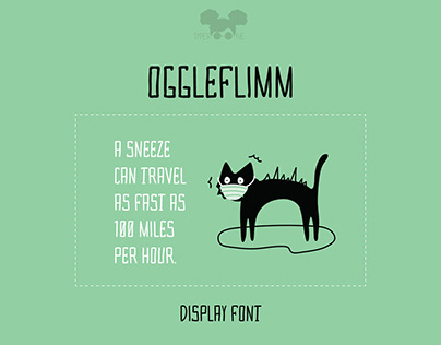 OGGLEFLIMM - Display Font