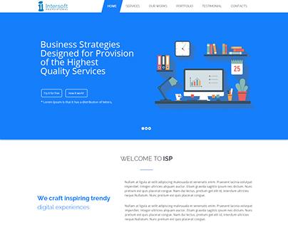 Website Mockup Design For Web Design Company